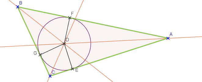 point de rencontre des médiatrices dans un triangle